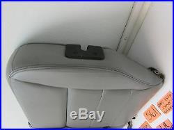 Escape Left Rear Seat Back Upper Top Half Shoulder Belt Buckle Grey Leather Oem