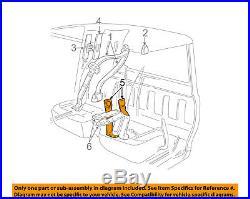 FORD OEM 01-03 Ranger Front Seat Belt-Buckle End Left 3L5Z1061203AAA