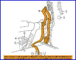 FORD OEM Front Seat Belt Buckle-Retractor Assy Left 9W7Z54611B09AA