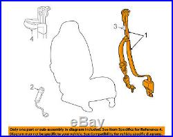 FORD OEM Front Seat Belt Buckle-Retractor Assy Right 3C3Z28611B08BAB