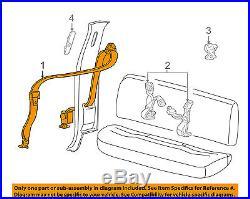 FORD OEM Rear Seat Belt-Buckle Retractor Assembly Left F81Z28611B69AAA