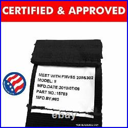 Ford Mustang GT Black Lap Seat Belt Buckle fits Coupe Fastback Set of Four 428