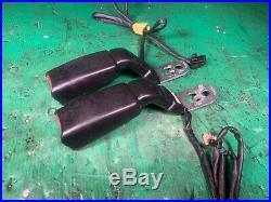 Front Black Seat Belt Buckle Set Receiver 93-95 LHD RHD Mazda RX7 FD3S