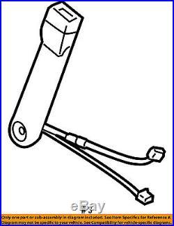 GM OEM Front Seat Belt-Buckle End Left 19121539