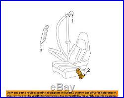 GM OEM Front Seat Belt-Buckle Left 19181644