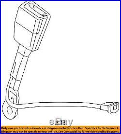 GM OEM Front Seat Belt-Buckle Left 19258293