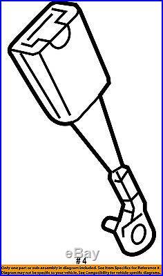 GM OEM Front Seat Belt-Buckle Left 19258614