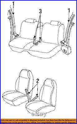 GM OEM Front Seat-Belt & Buckle Retractor 12398967