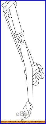 GM OEM Front Seat-Belt & Buckle Retractor 19121706