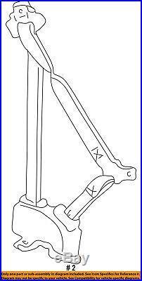 GM OEM Front Seat-Belt & Buckle Retractor Left 12377465