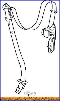 GM OEM Front Seat-Belt & Buckle Retractor Left 19256126