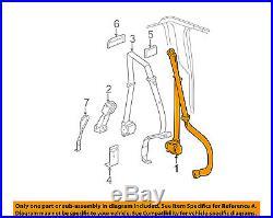 GM OEM Rear Seat Belt-Belt & Buckle Retractor Left 19260326