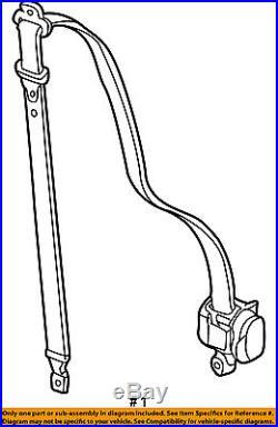 GM OEM Rear Seat Belt-Belt & Buckle Retractor Right 89022609