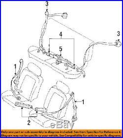 Geo GM OEM 90-92 Prizm Front Seat Belt-Buckle Retractor Left 94850041