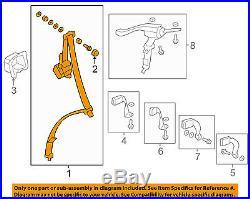 HONDA OEM 07-11 CR-V Rear Seat Belt-Belt & Buckle Retractor Left 04828SXSA01ZA