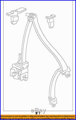 HONDA OEM Element Rear Seat Belt-Belt & Buckle Retractor Left 04828SCVA01ZD