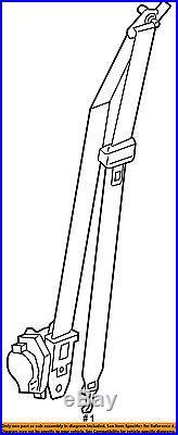 HYUNDAI OEM 15-16 Sonata Front Seat-Belt & Buckle Retractor Right 88820C2000PPB
