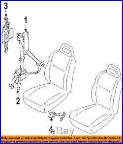 ISUZU OEM 01-02 Rodeo Front Seat Belt-Buckle Retractor Left 8972938663