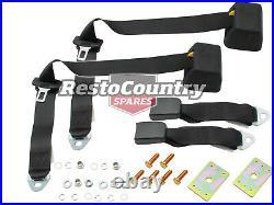 Inertia Reel Seat Belt PAIR Top Rear Parcel Shelf 275mm Webb Buckle Holden Ford