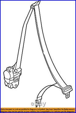 Infiniti NISSAN OEM 09-13 G37 Front Seat-Belt & Buckle Retractor Left 86885JK60B