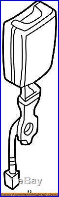 JAGUAR OEM 01-06 XK8 XKR Front Seat Belt Buckle R or L Sable HJE7017AGAEK