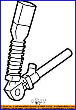 Jeep CHRYSLER OEM 06-07 Commander Front Seat Belt-Buckle End Right 1CB121D1AC