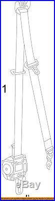 Jeep CHRYSLER OEM Front Seat Belt Buckle-Retractor Assy Left 1VL07DX9AF