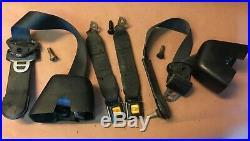 Jeep YJ back seat belts family cage belt 92-95 Wrangler female buckle rear bolts