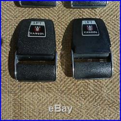 KANGOL Seat Belt Buckle Set (4) Mercedes Jaguar MGB Austin Healey magnetic NICE