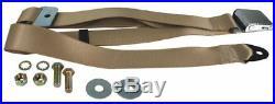 KARMANN GHIA Seat Belt, 2pt Static Lap, Chrome Buckle, Cream 111857704CRM