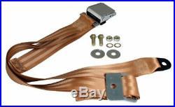 KARMANN GHIA Seat Belt, 2pt Static Lap, Chrome Buckle, Tan 111857704TAN