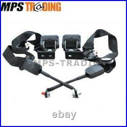 Land Rover Defender Front Seat Belts & Buckles (set) Btr6561/6562/4372/4373