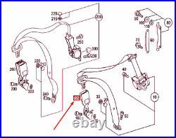 MERCEDES-BENZ E W211 Rear Left Seat Belt Lock A2118604169 NEW GENUINE