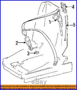 MERCEDES OEM 94-02 SL600 Front Seat Belt-Buckle Right 1298602669