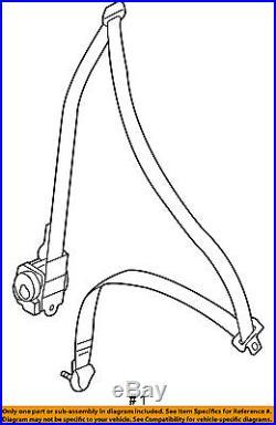 MITSUBISHI OEM 05-06 Outlander Front Seat-Belt & Buckle Retractor Right 7000B527