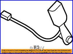 MITSUBISHI OEM 08-15 Lancer Front Seat Belt-Buckle End Right 7000B260