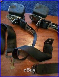 Mercedes W123 Oem Klippan Rear Seat Belt Buckle Set