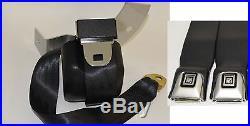 Morris Classic 3 Point Shoulder Rear Seat Belt 68-73 Chevelle GM Button Buckle