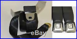 Morris Classic Shoulder 3 Point Rear Seat Belt 69 Camaro Starburst Button Buckle