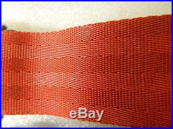 NOS 1962 Corvette CS5000 Seat Belt buckle with 6 Row Red webbing and tongue GM