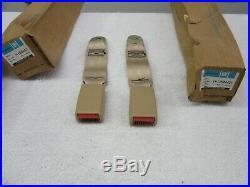 NOS 1982-1992 Camaro Firebird (2) Rear Seat Belt Buckle Assy. (Light Saddle) dp