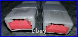 NOS 85-05 GMC Safari Chevy Astro Front Seat Belt Buckle Driver Passenger LR Gray