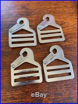 NOS Ford ALUMINUM Seat Belt Buckle Pair VINTAGE FoMoCo Script 1956-1960 Rare