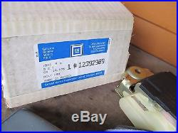 NOS GM Front Seat Belt Buckle and retractor PAIR Camaro 1984-1992