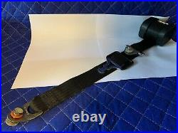 NOS Mercedes W116 W123 (73-79) US Front Seat Belt withNotched Buckle OE 1238600385