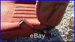 Nissan Datsun 280zx front seat belt assembly. Trim, Red Seat Belt buckle Pair