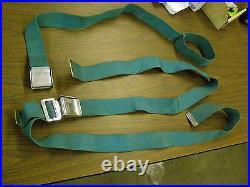 OEM 1959 Ford Fairlane Seat Belts Aqua with Buckles