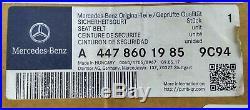 OEM MERCEDES 15-19 METRIS W447 FRONT DRIVER LEFT SIDE SEAT BELT RETRACTOR black