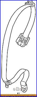 PORSCHE OEM 05-13 911 Rear Seat Belt-Belt & Buckle Retractor Left 99780303503V02