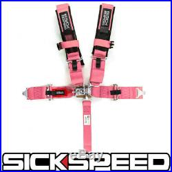 Pink Sfi Approved 5 Point Racing Harness Shoulder Pad Safety Seat Belt Buckle